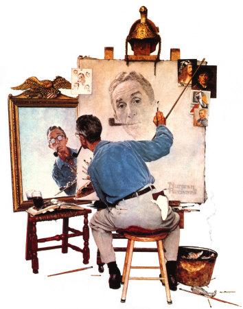 009_575-010Norman-Rockwell-Triple-autoportrait-Affiches.jpg